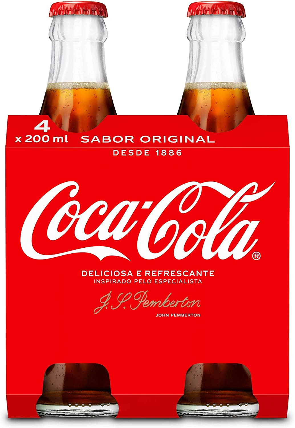 Coca-Cola - Regular, Botella de cristal, 4 x 200 ml