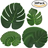 Foglie di palma tropicale, Htianc 30Pcs foglie tropicali foglie di palma artificiale foglie delle piante, hawaiana Jungle Beach Party Decorations Summer Flowers
