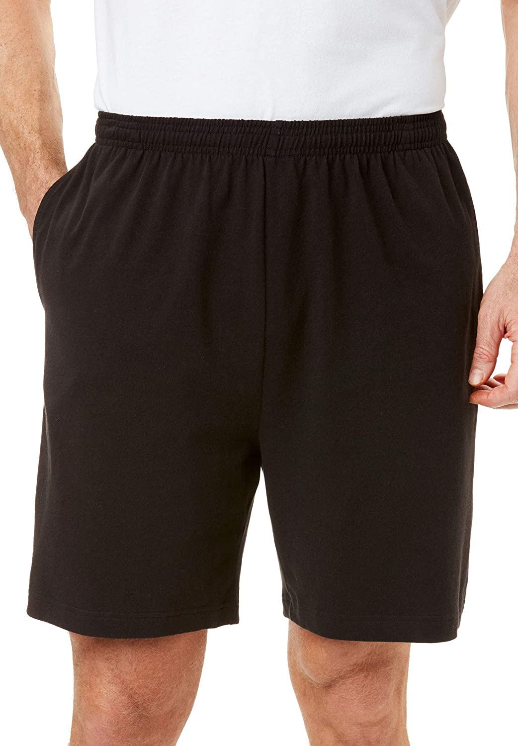 KAM Mens Big Size Cotton Terry Jersey Cargo Shorts 300
