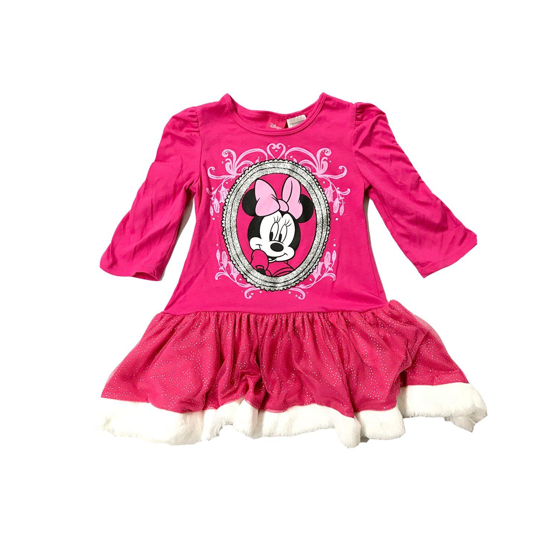 Minnie Mouse Christmas Dress.Amazon Com Minnie Mouse Disney Girls Christmas Dress Large