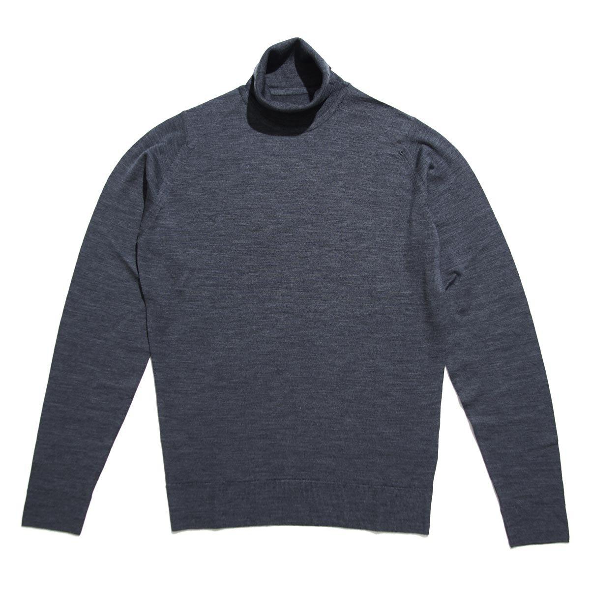 (ジョンスメドレー) JOHN SMEDLEY タートルネック セーター/CHERWELL チャーウェル [並行輸入品] B0771F3256 M チャコール チャコール M