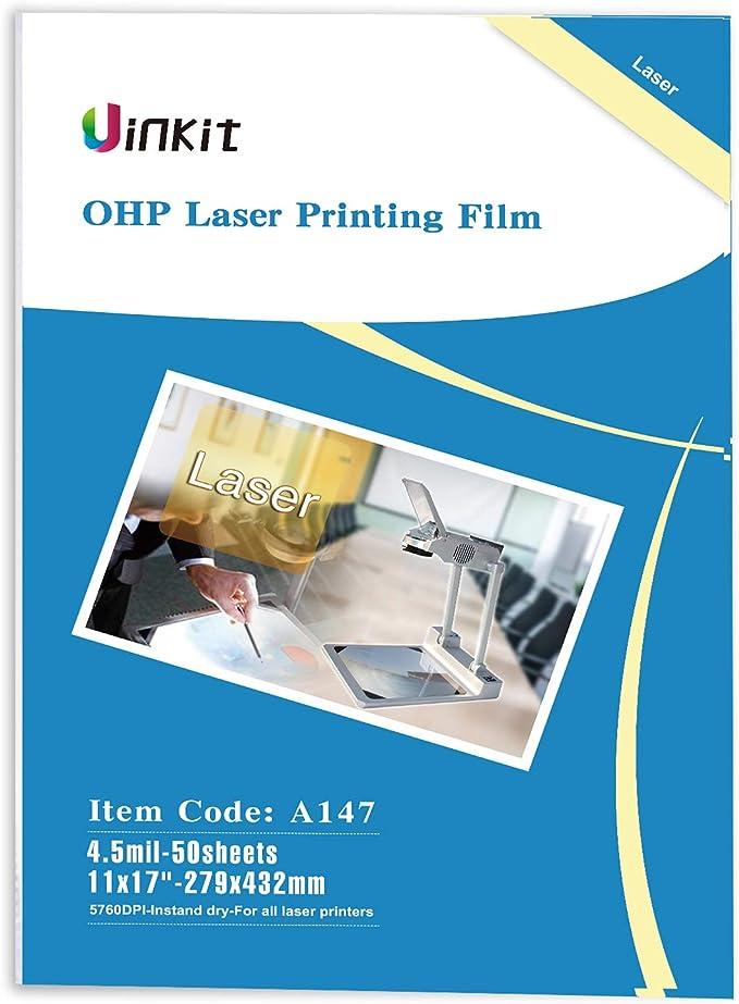 "11/""x17/"",Silk Screen Printing Milky Transparency Laser Printing Film 50 sheets"