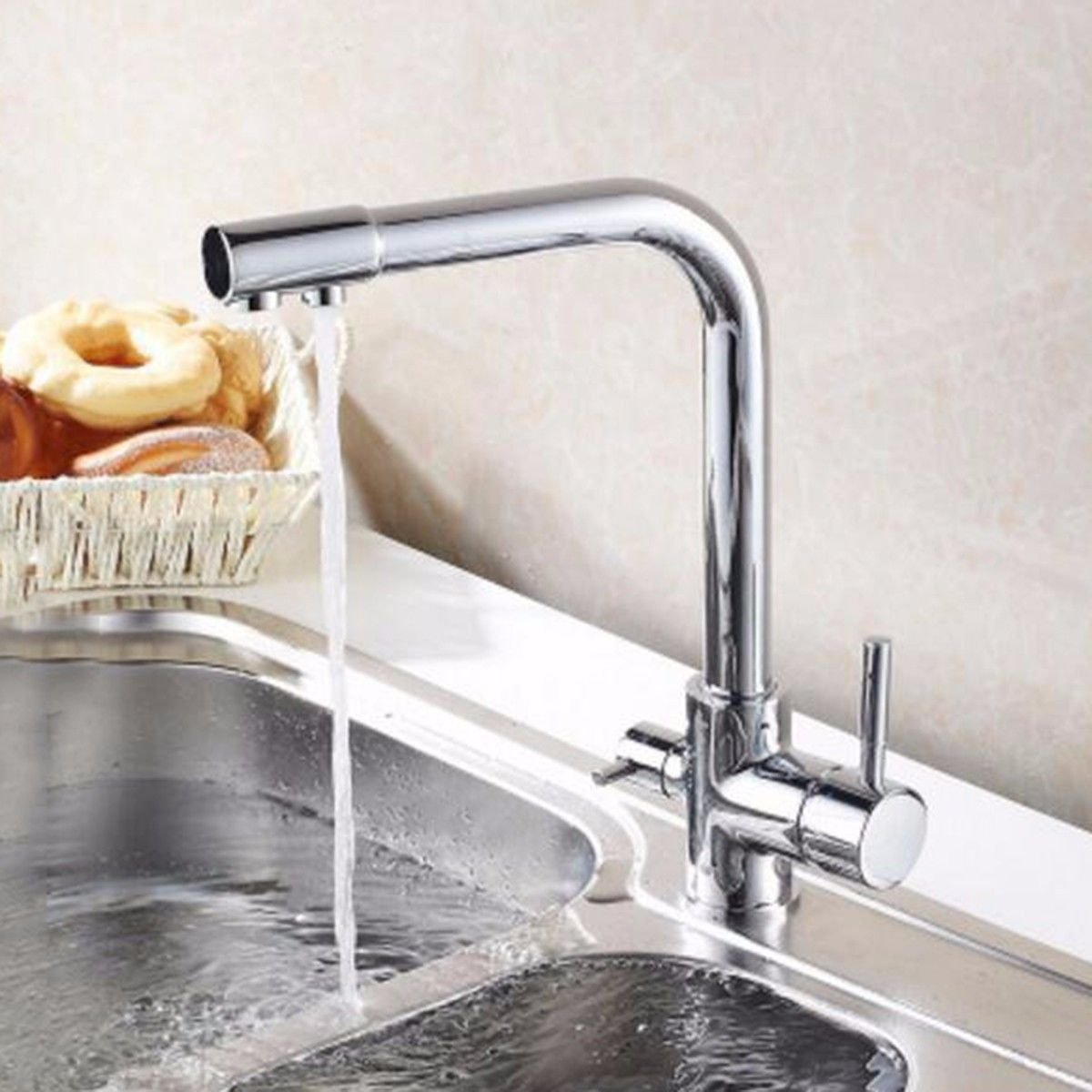 MulFaucet Hot and Cold Kitchen Water Purifier Dual use Faucet Sink Faucet redating Effluent