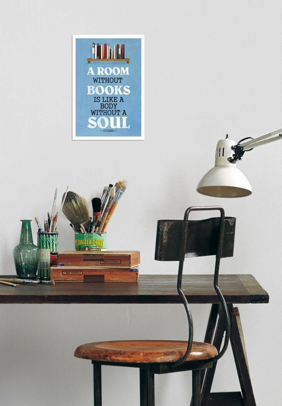 Amazon.com: Poster Revolution a Room without Books Cicero Quote ...