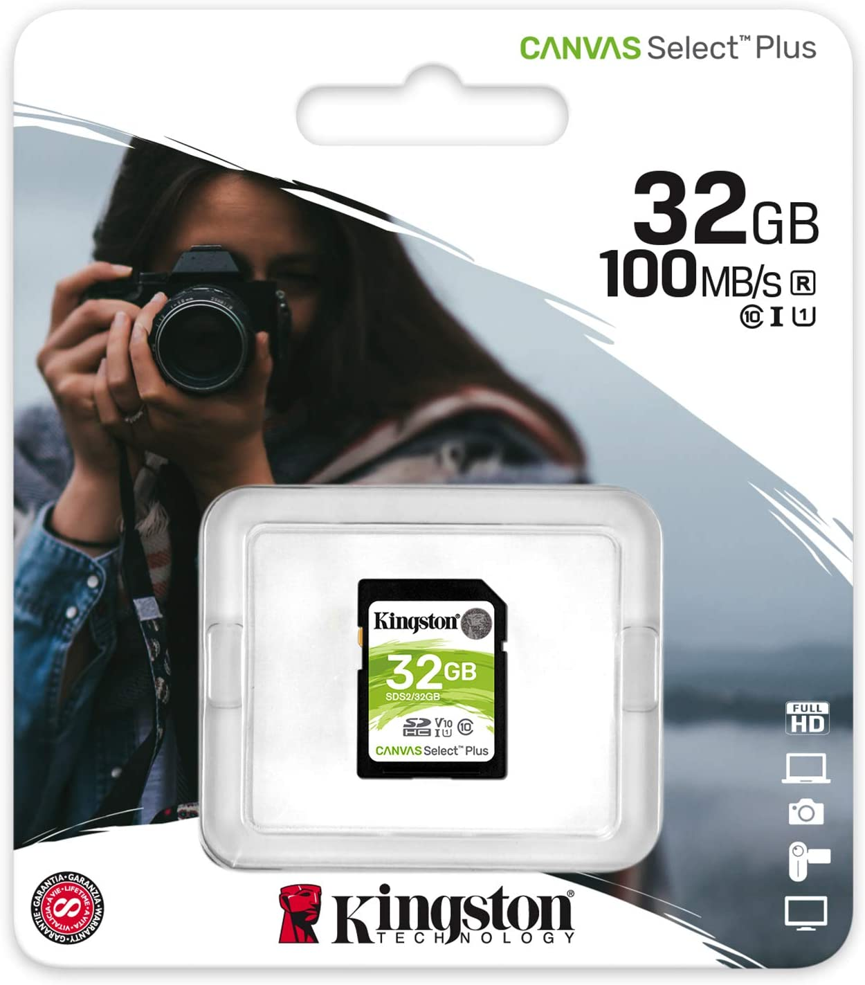 Kingston 32GB Huawei Mate 9 MicroSDHC Canvas Select Plus Card Verified by SanFlash. 100MBs Works with Kingston