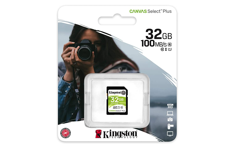 Amazon.com: Kingston 32GB SDHC Canvas Select Plus 100MB/s ...