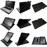 Coodio® Smart Asus Transformer Book T200TA 11.6 inch tabelt 360 étui en cuir avec support prise manuelle intégré (support clavier) - Noir