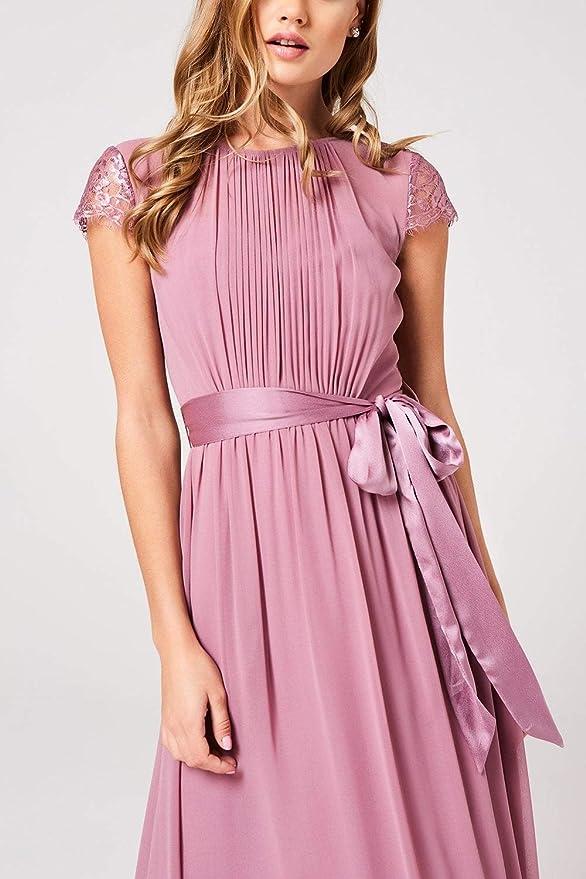 Little Mistress Damen Phoebe Lace-Trim Maxi Dress cocktailkleid