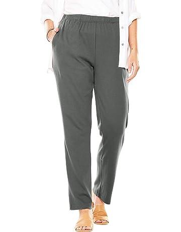c4e4b8869b2ef Woman Within Women's Plus Size 7-Day Knit Straight Leg Pant