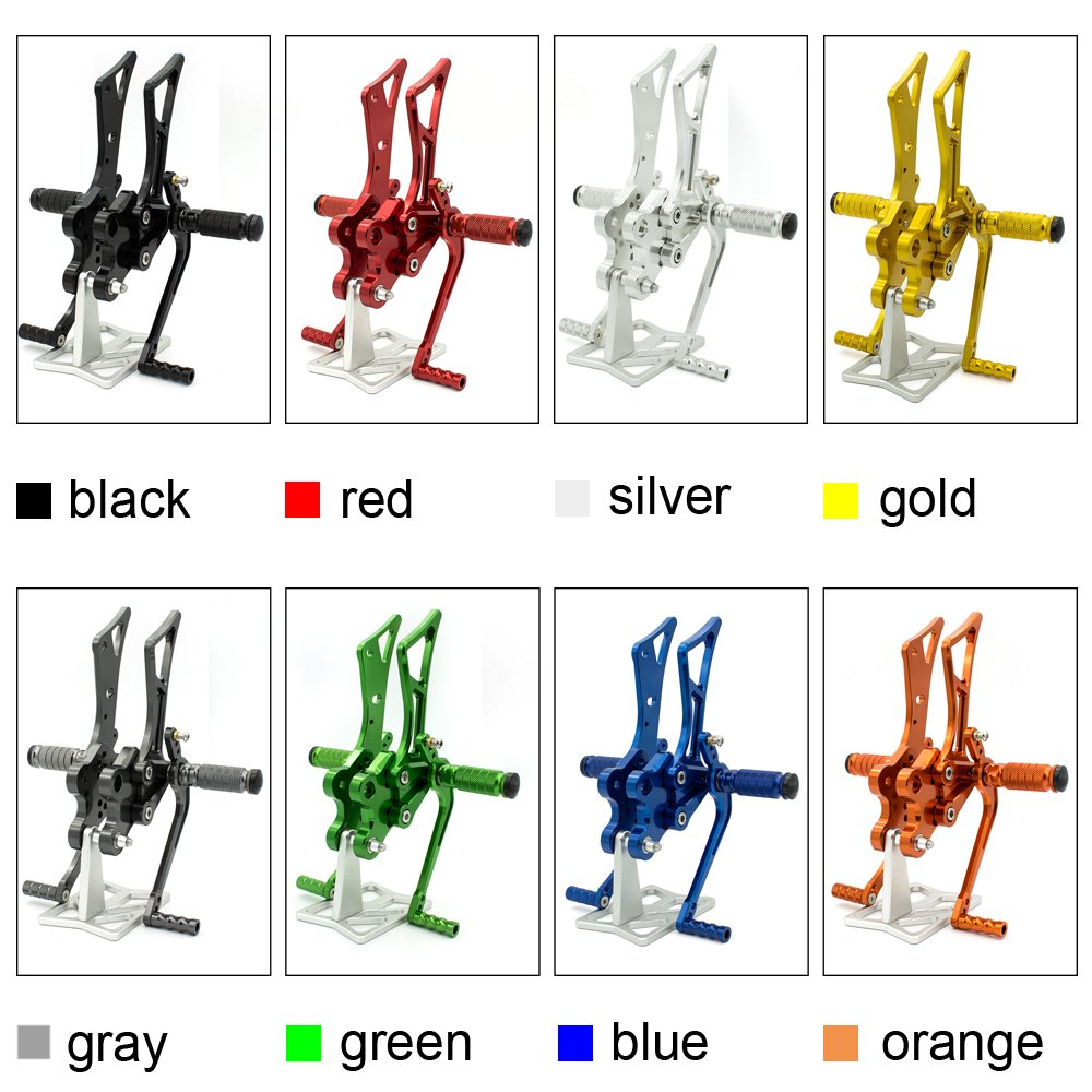 FXCNC Racing CNC Billet Motorcycle Adjustable Rearsets Foot Pegs Rear Set Fit For Yamaha FZ1 FZ8 2001 2002 2003 2004 2005 Blue