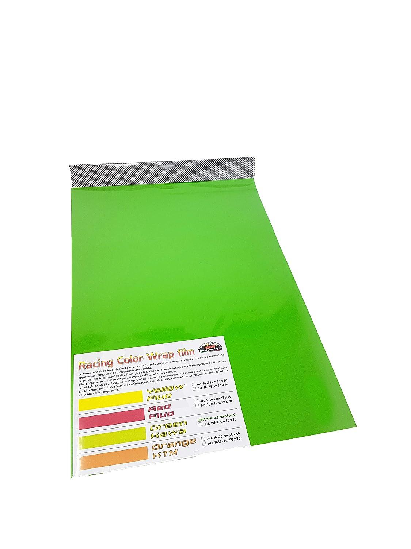 Film Adh/ésif Wrapping pour Voitures Vert Kawasaki 35 x 50 cm
