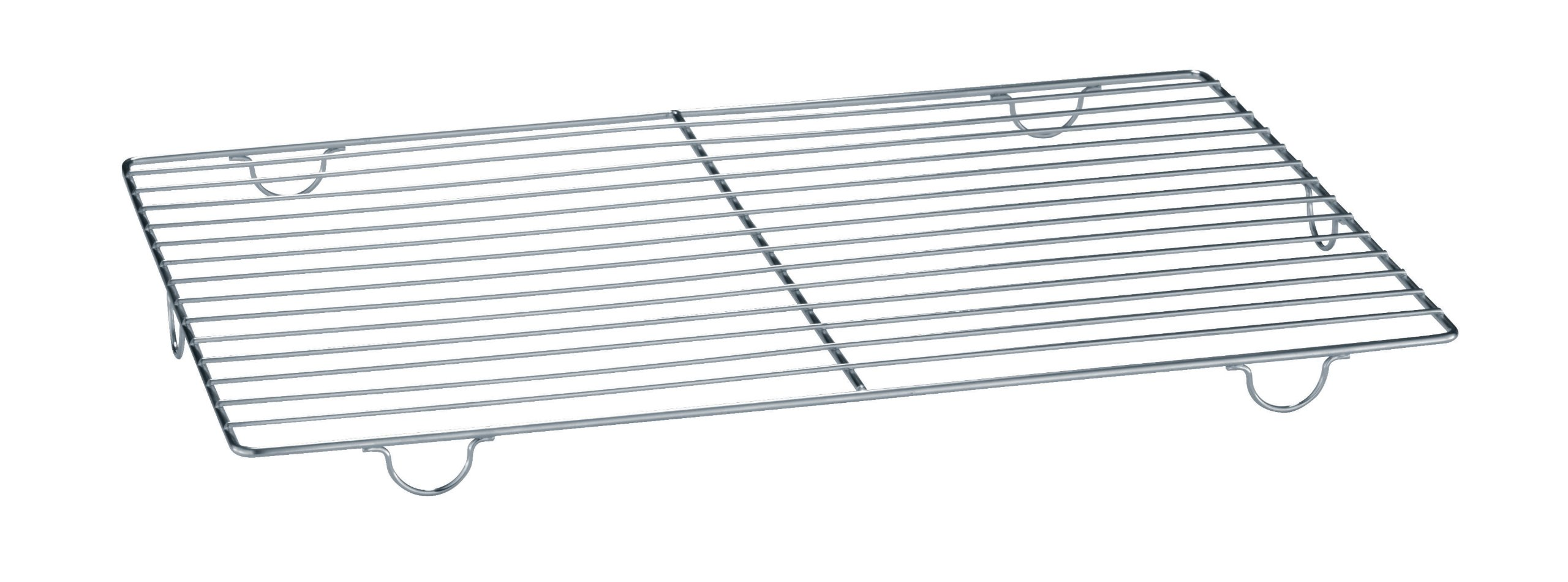 Paderno World Cuisine 18 1/8 Inch by 12 Inch by 1 Inch Stainless-steel Cooling Rack with Feet