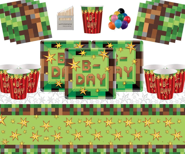 TNT Party Supplies 16 Invitados Pack-TNT Platos Cuadrados Vasos de ...