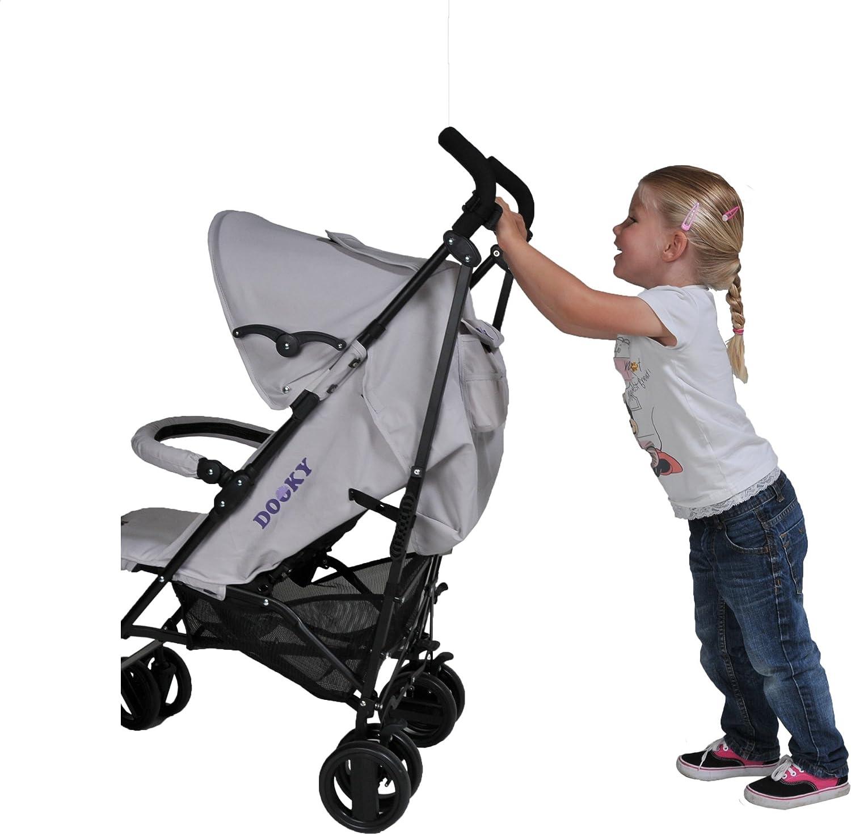 Die originale Dooky-Kinderwagenstange lenken Sie jeden Kinderwagen mit nur einer Hand!