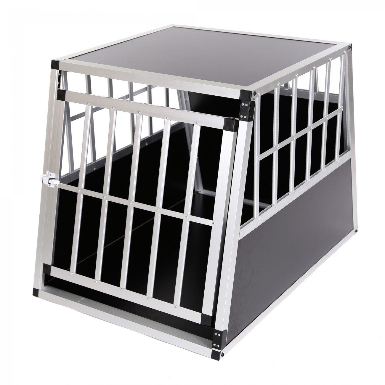 zoomundo Alu Transportbox Hundebox Reisebox Hundetransportbox 1-Türig Autotransportbox Kofferraumbox Gitterbox Käfig Box Premium