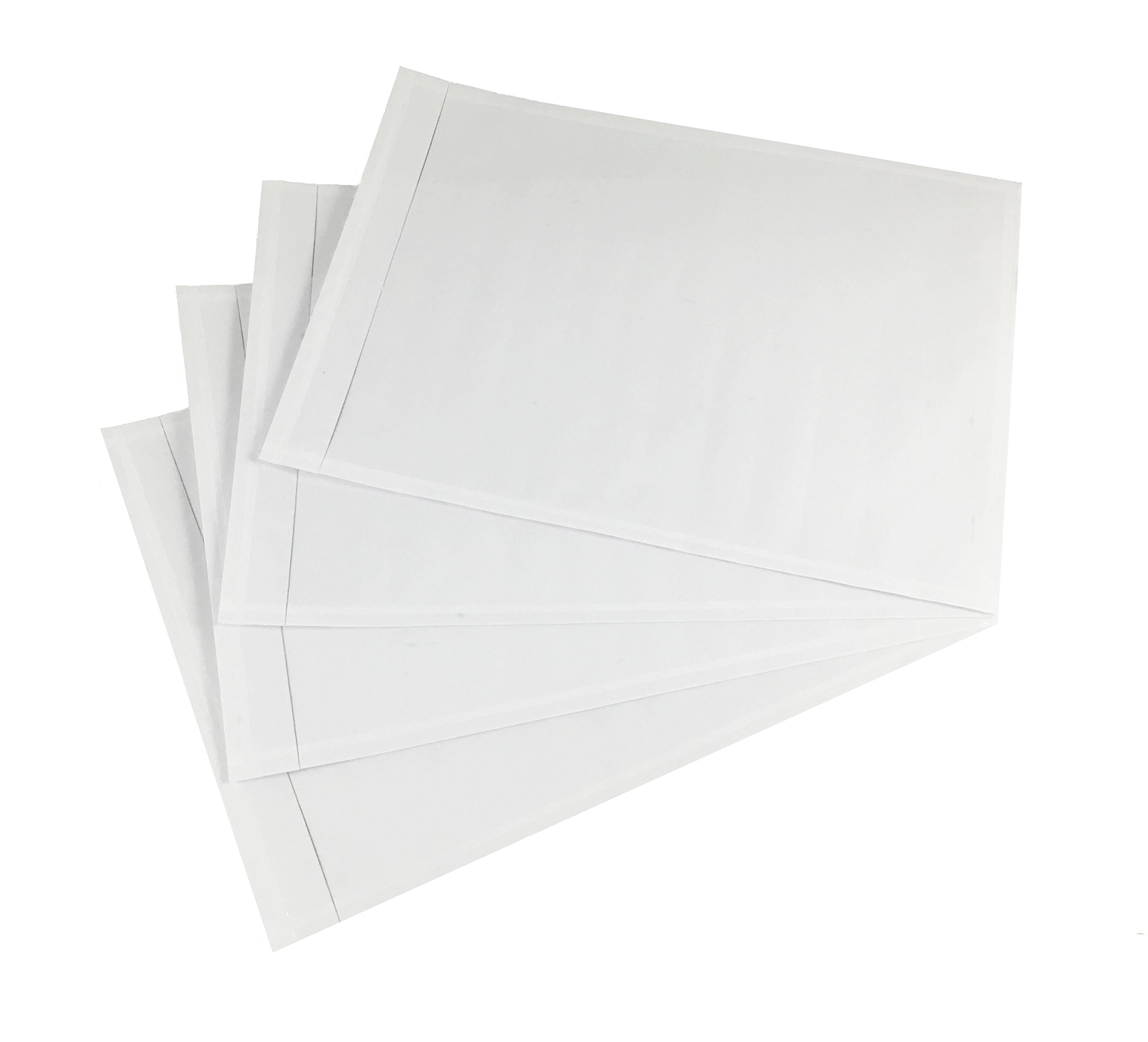 5.5'' x 7.5'' Clear Packing List Envelope Adhesive Shipping Address Invoice Label Sleeve (100 pack) by Shipping Supply Warehouse (Image #1)