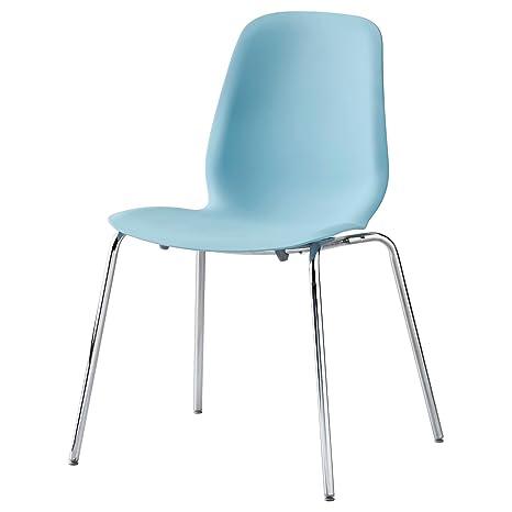 Zigzag Trading Ltd IKEA LEIFARNE - Luz Silla Azul/broringe Cromado