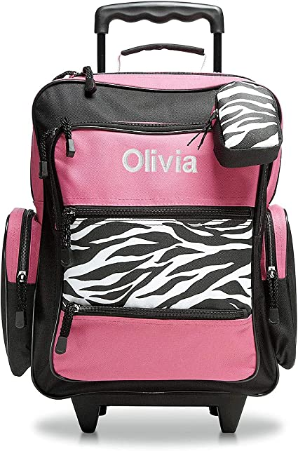 Zebra Shiny Glitter Bronze Carry-on Rolling Tote  Traveling /& Shopping
