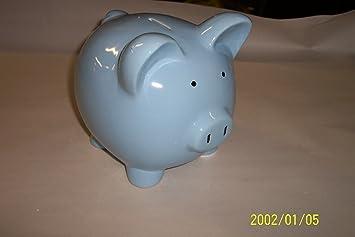 Amazon.com: 8 inch bebé azul Hucha de cerámica: Baby