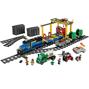 Amazon.com: LEGO City Cargo Train 60052 Train Toy: Toys & Games