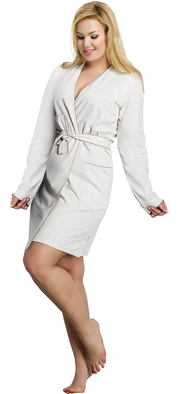Merry Style Batas Tallas Grandes Plus Size Ropa de Cama Interior Lencería Mujer 1045 (Albaricoque, XXL): Amazon.es: Ropa y accesorios