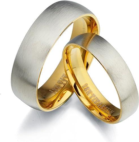 Gemini Groom /& Bride Two Tone Rose Gold /& Silver Brush /& Polish Titanium Wedding Ring Set Width 7mm /& 5mm Men Ring Size 10.5 Women Ring Size 4.25