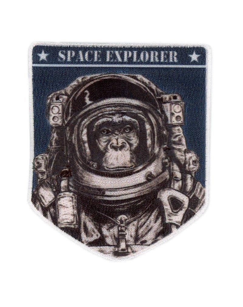 Titan One Europe Space Explorer Chimp Astronaut NASA Universe Exploration Crew Uniform Costume Cosplay Patch Iron On Astronaut Schimpanse Weltraumforscher NASA Taktisch Aufn/äher Aufb/ügler