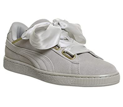 wholesale dealer 3aaab 0d463 Amazon.com | PUMA Suede Heart Satin Womens Trainers ...