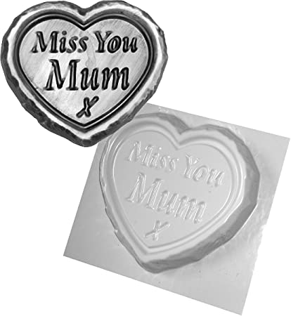 "dennycraftmoulds.co.uk - Molde para cemento con el texto ""Miss You"