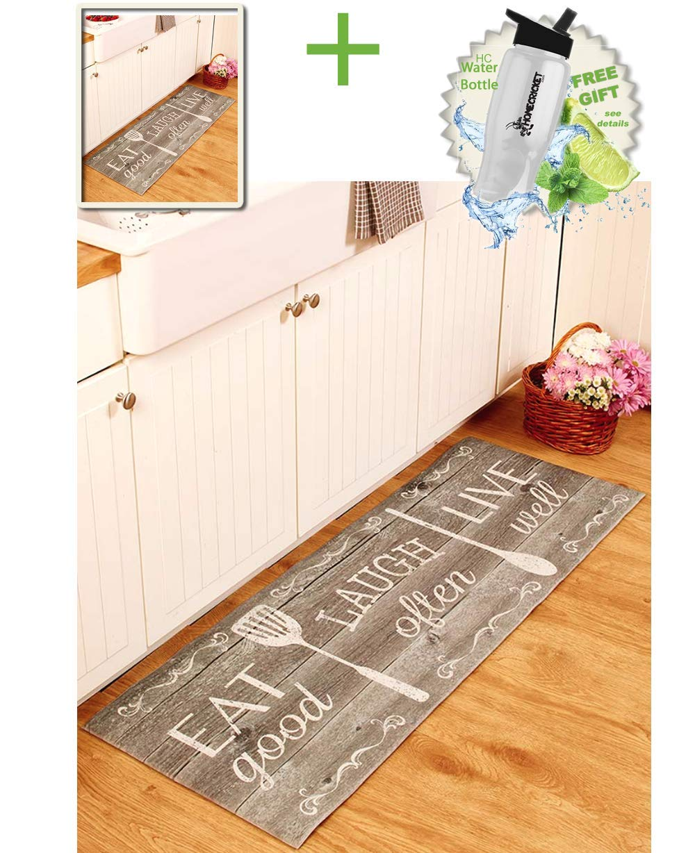 Cushion Floor Runner Eat Laugh Live Decorative Rug