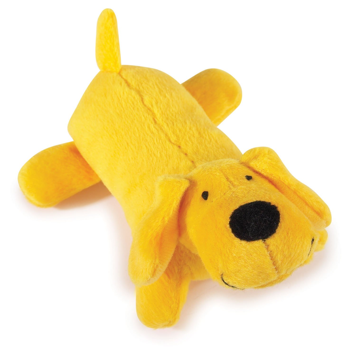 "Amazon Zanies Neon Lil Yelper Dog Toys Yellow 5"" Plush"