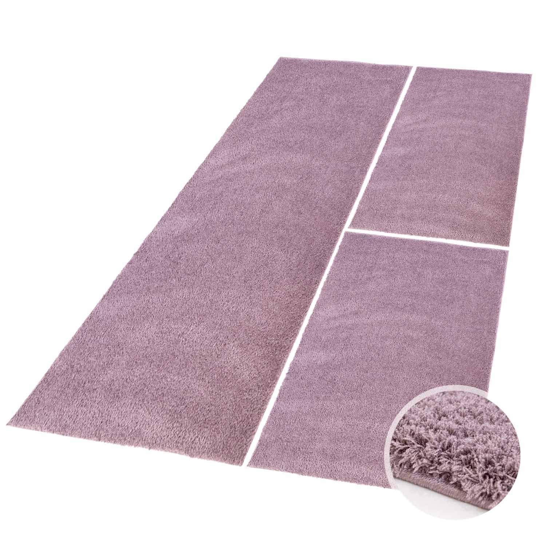 Carpet city Bettumrandung Bettumrandung Bettumrandung Shaggy aus hochwertigen Micro-Polyester, Hochflor Teppich-Läufer in Einfarbig Grau, Silber für Schlafzimmer B07BNT1QZH Teppiche 022d91