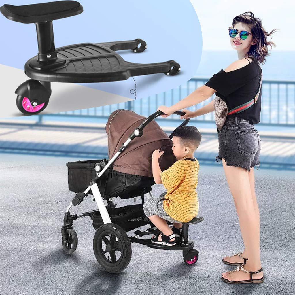 Buggy Board with Seat,Standing Board,Seat Removable and Assembling 35x26cm Blue