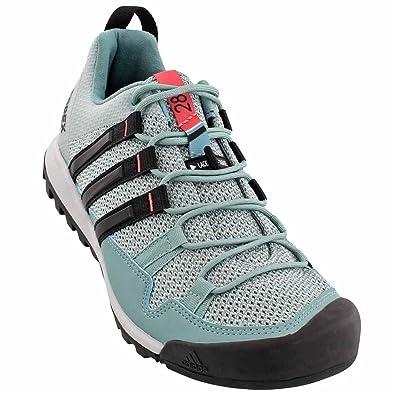 Adidas Outdoor Terrex Solo Approach Shoe - Women's Vapour Steel/Black/Tactile  Pink,