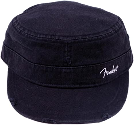 3ee0d6f9652757 Amazon.com: Fender Military Cap (hat) - Black - Large - Extra Large: Musical  Instruments