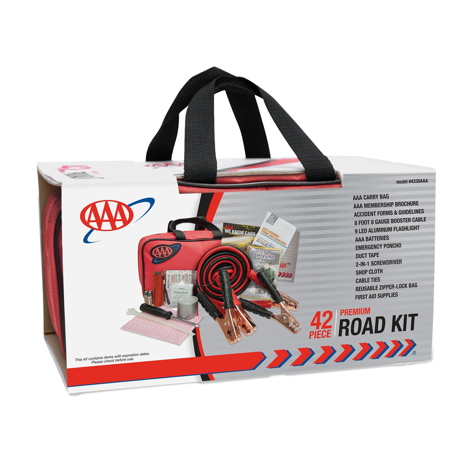 AAA 42 Piece Emergency Road Assistance Kit Safety Kits