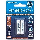 Pilha Recarregável Eneloop AAA (Palito) BK-4MCCE/2BB, Panasonic, Cartela com 2 unidades