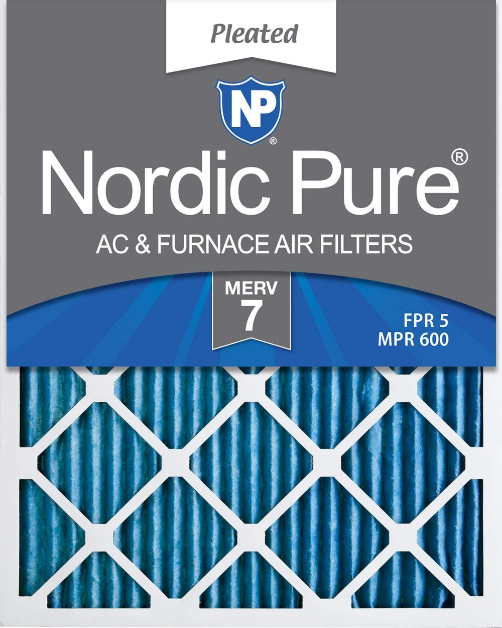 12 PACK 12 PACK Nordic Pure 20x24x1 Pure Green Eco-Friendly AC Furnace Air Filters