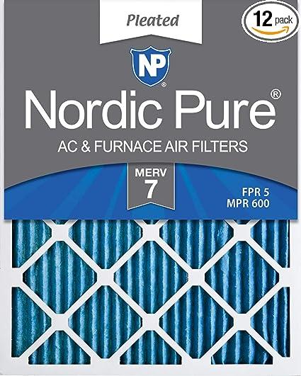 Nordic Pure 14x25x1 MERV 12 Tru Mini Pleat AC Furnace Air Filters 3 Pack