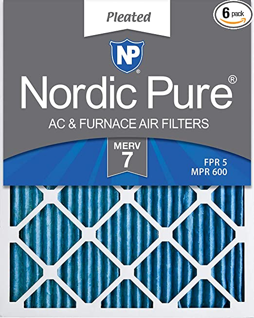 Nordic Pure 17/_1//2x23/_1//2x1 MERV 11 Pleated AC Furnace Air Filters 3 Pack