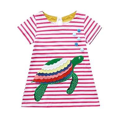 6dbf9aae50b5 FeiliandaJJ Baby Girls Kids Toddler Summer Cute Stereoscopic Cartoon ...