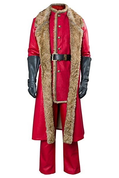 Christmas Chronicles Mrs Claus.Mens Christmas Movie Santa Claus Cosplay Costume Outfit Red Leather Coat