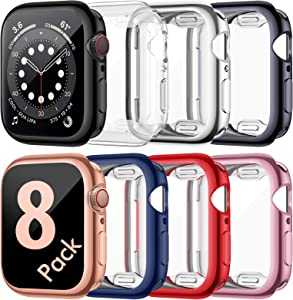 ZEBRE [8 Pack] Screen Protector Compatible with Apple Watch 6/Series SE/Series 5/Series 4 40mm, Ultra Thin HD Screen Case Full Coverage Protective Cover Compatible with iWatch Series 6/SE/5/4