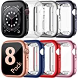 ZEBRE 8 Pack Screen Protector Compatible with Apple Watch 6/Series SE/Series 5/Series 4 44mm, Ultra Thin HD Screen Case Full
