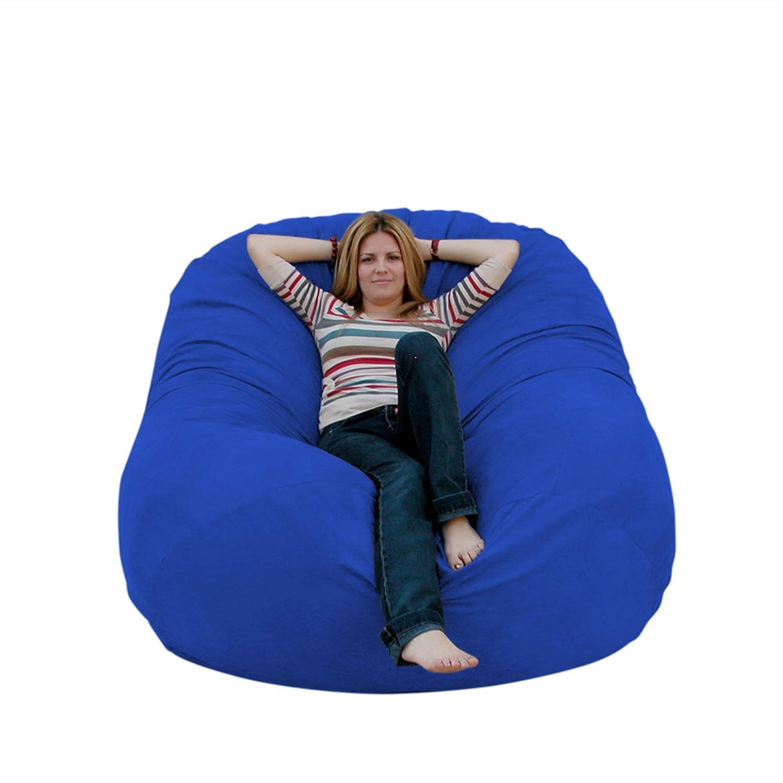 Cozy Sack 6-Feet Bean Bag Chair, Large, Royal