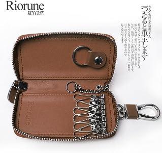 0c6ab84b9738 Riorune キーケース 本革 6連 + スマートキー メンズ レディース