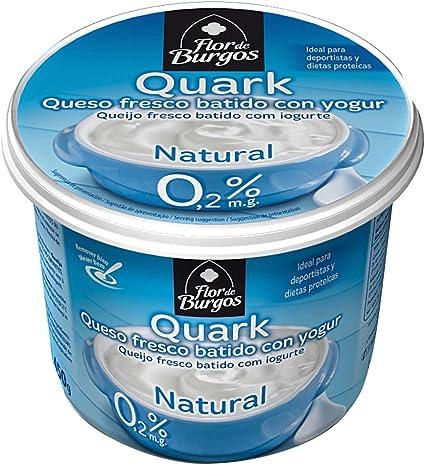 Quark natural. Queso fresco batido con yogur 0,2%MG 450g Flor ...