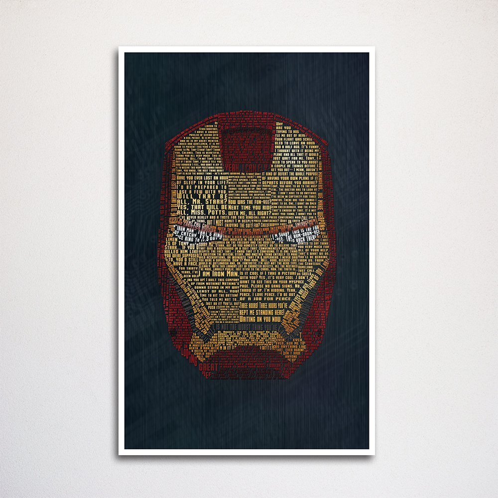 "Iron Man word art print -11x17"" unframed