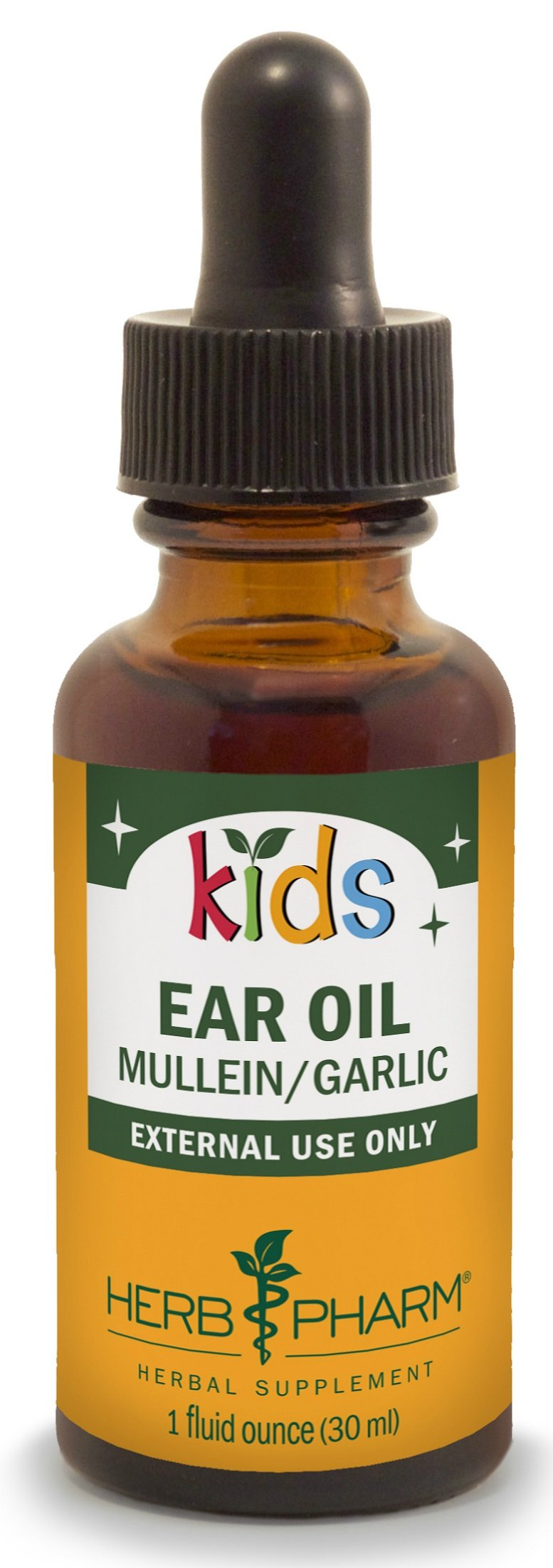 Herb Pharm Kids Ear Oil with Mullein and Garlic, 1 Ounce