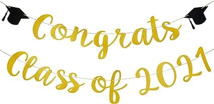 Gold Glitter Medical School Congratulations Grad 2021 Nurse Graduation Party Bunting Decor Decorations Supplies Backdrop Congrats Nurse Sign Banner
